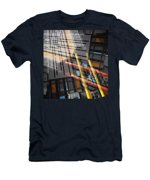 Diagonal Mondrian Men's T-Shirt (Athletic Fit)