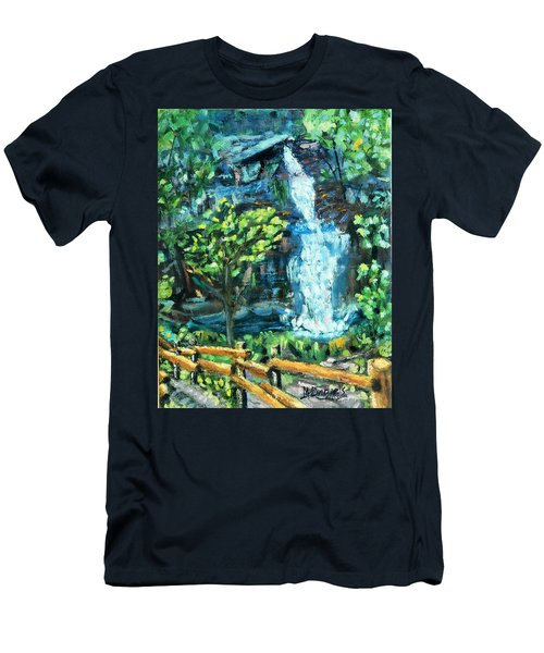 Dingman Falls Eastern Pennsylvania Men's T-Shirt (Athletic Fit)