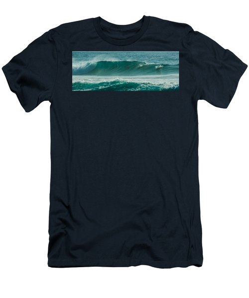 Dolphins In Wave 10 Men's T-Shirt (Athletic Fit)