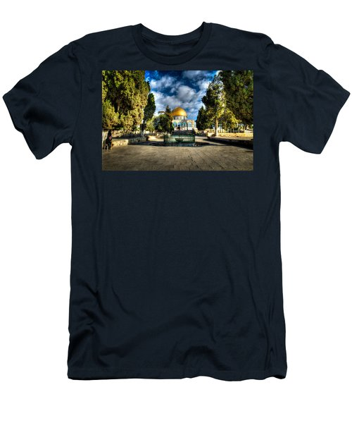 Dome Of The Rock Hdr Men's T-Shirt (Athletic Fit)