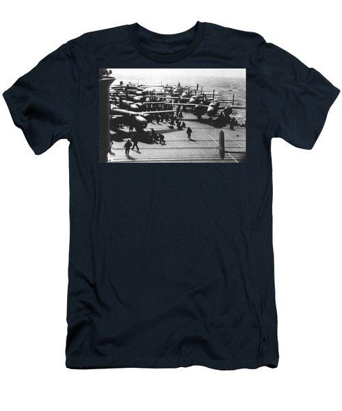 Doolittle's Raider Planes Men's T-Shirt (Athletic Fit)