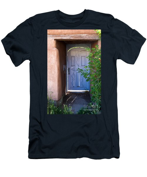 Men's T-Shirt (Slim Fit) featuring the photograph Doors Of Santa Fe by Roselynne Broussard