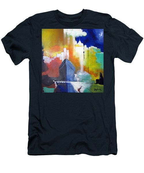 Down The Hudson Men's T-Shirt (Slim Fit) by Gary Smith