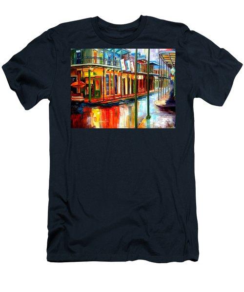 Downpour On Bourbon Street Men's T-Shirt (Athletic Fit)