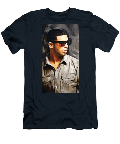 Drake Artwork 2 Men's T-Shirt (Slim Fit)