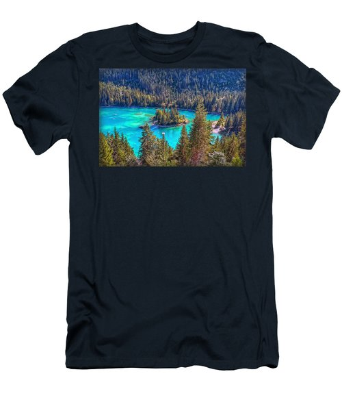 Dream Lake Men's T-Shirt (Slim Fit) by Hanny Heim