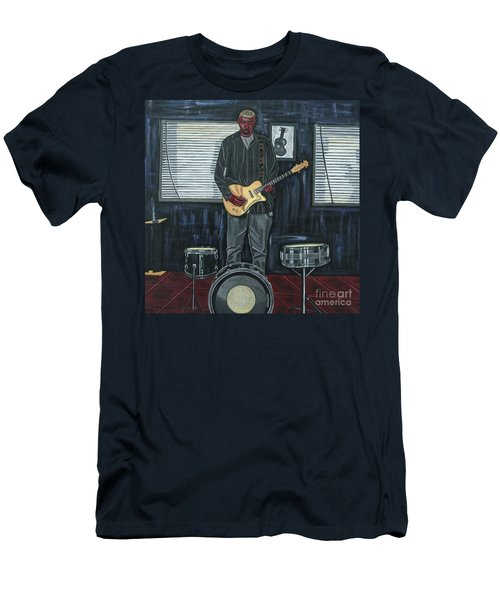 Drums And Wires Men's T-Shirt (Slim Fit) by Sandra Marie Adams
