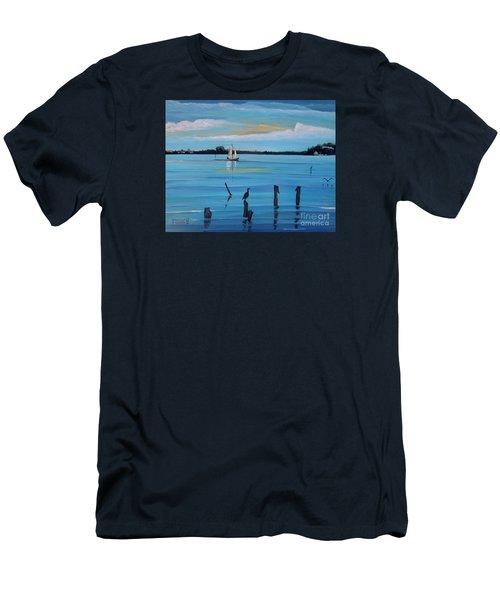 Dusk Approaching  Men's T-Shirt (Slim Fit) by Marilyn  McNish