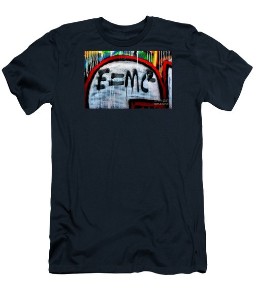 Men's T-Shirt (Slim Fit) featuring the photograph E Equals Mc Squared by Newel Hunter