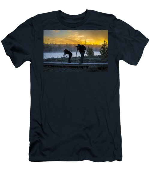 Early Birds Yellowstone National Park Men's T-Shirt (Athletic Fit)