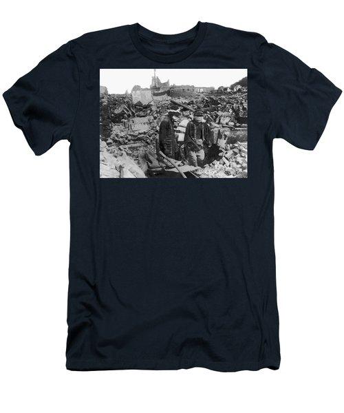 Earthquake Ruins In Yokohama Men's T-Shirt (Athletic Fit)