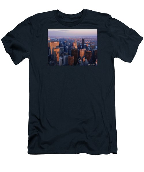 East Coast Wonder Aerial View Men's T-Shirt (Slim Fit) by Emmy Marie Vickers