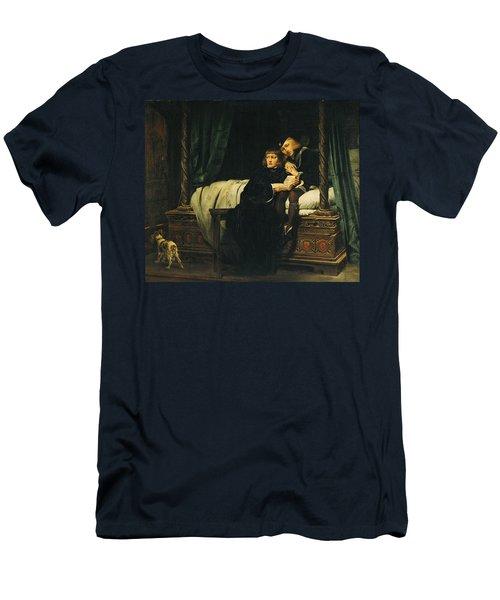 Edward V 1470-83 And Richard, Duke Of York In The Tower Les Enfants Dedouard 1830 Oil On Canvas See Men's T-Shirt (Slim Fit) by Hippolyte Delaroche