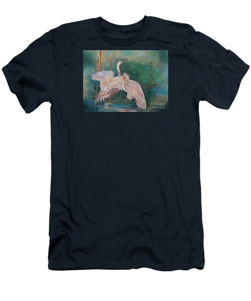 Egrets In The Mist Men's T-Shirt (Athletic Fit)