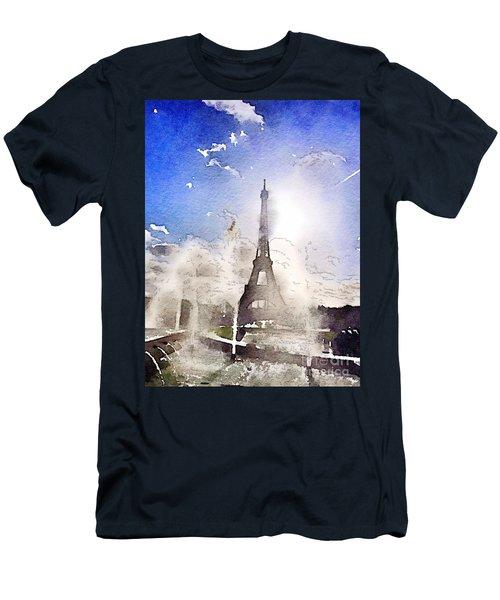 Eiffel During Summer Men's T-Shirt (Athletic Fit)