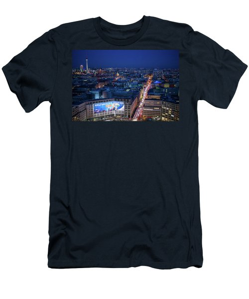 Elevated View Of Leipziger Strasse Men's T-Shirt (Athletic Fit)
