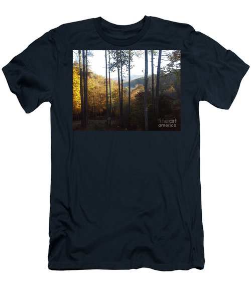 Men's T-Shirt (Slim Fit) featuring the painting Ellijay Color by Jan Dappen