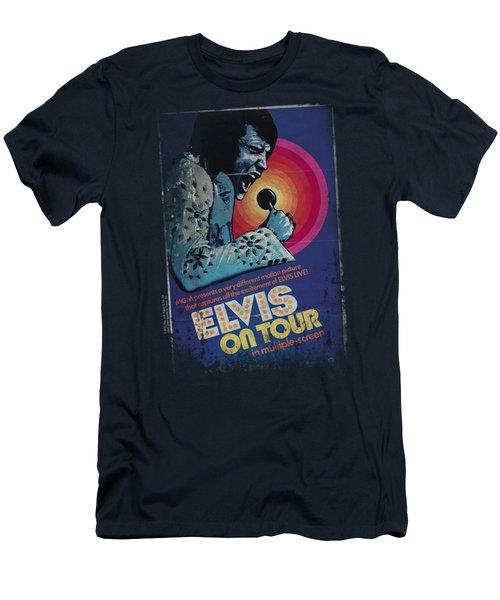 Elvis - On Tour Poster Men's T-Shirt (Athletic Fit)