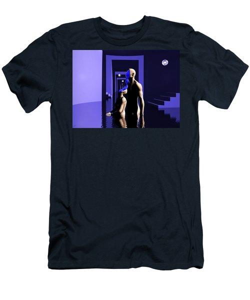 Men's T-Shirt (Slim Fit) featuring the digital art Emotional Symbiosis by John Alexander