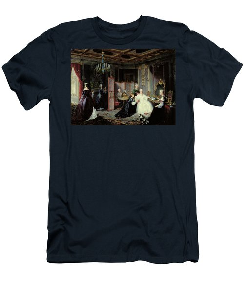 Empress Catherine The Great 1729-96 Receiving A Letter, 1861 Oil On Canvas Men's T-Shirt (Athletic Fit)