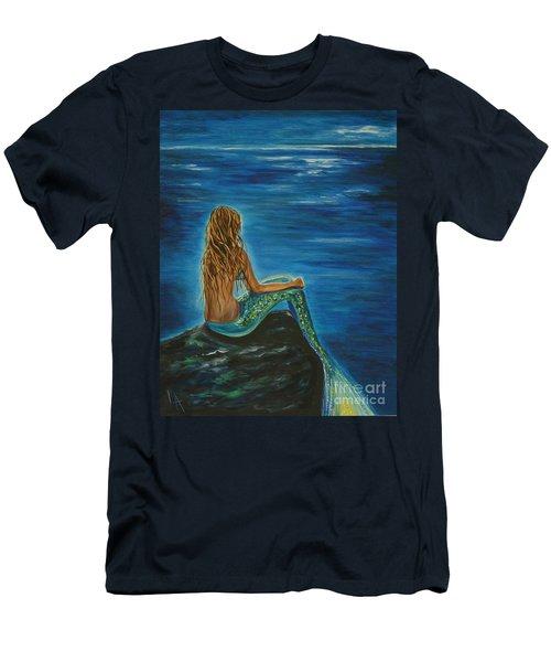 Enchanted Mermaid Beauty Men's T-Shirt (Slim Fit) by Leslie Allen
