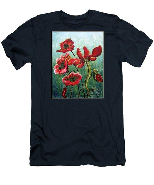 Endless Poppy Love Men's T-Shirt (Slim Fit) by Jolanta Anna Karolska