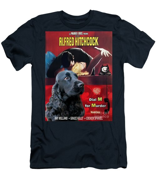 English Cocker Spaniel Art - Dial M For Murder Men's T-Shirt (Athletic Fit)