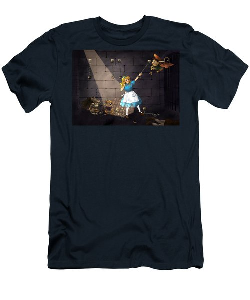 Men's T-Shirt (Slim Fit) featuring the painting Escape by Reynold Jay