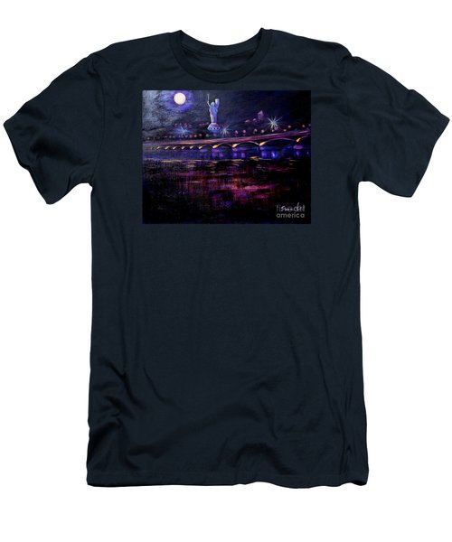 Evening Kiev. Paton Bridge Men's T-Shirt (Athletic Fit)