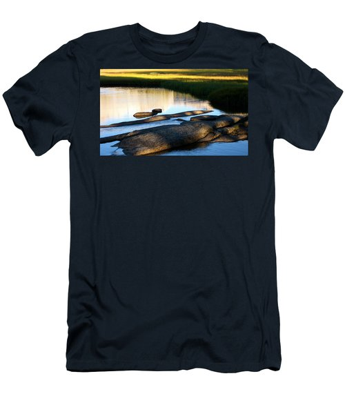 Contemplating Sunset Men's T-Shirt (Slim Fit) by Amelia Racca