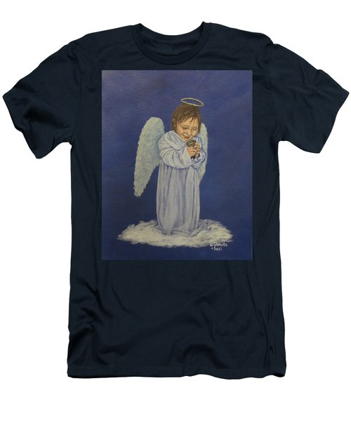 Men's T-Shirt (Slim Fit) featuring the painting Excitement by Wendy Shoults