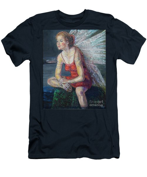 Fairy On A Stone Men's T-Shirt (Athletic Fit)