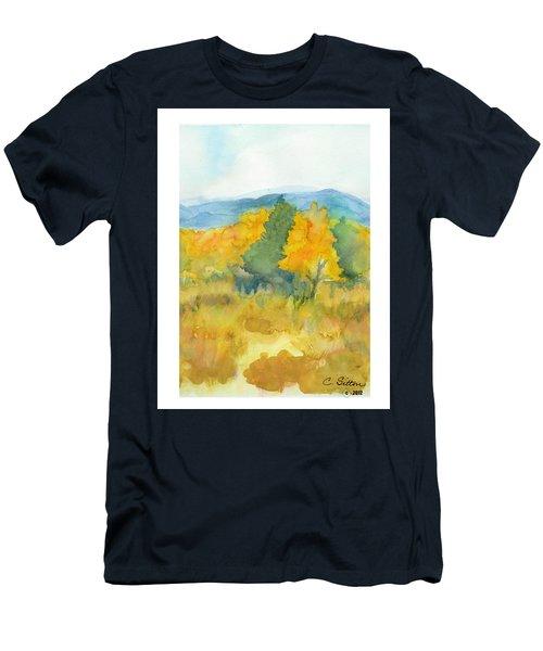 Fall Trees Men's T-Shirt (Slim Fit) by C Sitton