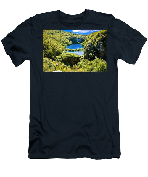 Falling Lakes Of Plitvice National Park Men's T-Shirt (Athletic Fit)