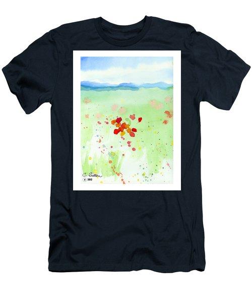Field Of Flowers 2 Men's T-Shirt (Slim Fit) by C Sitton