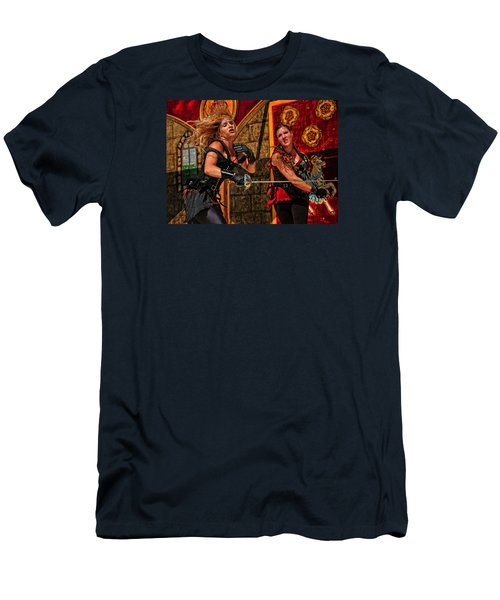 Men's T-Shirt (Slim Fit) featuring the photograph Fight To The Finish by Mike Martin