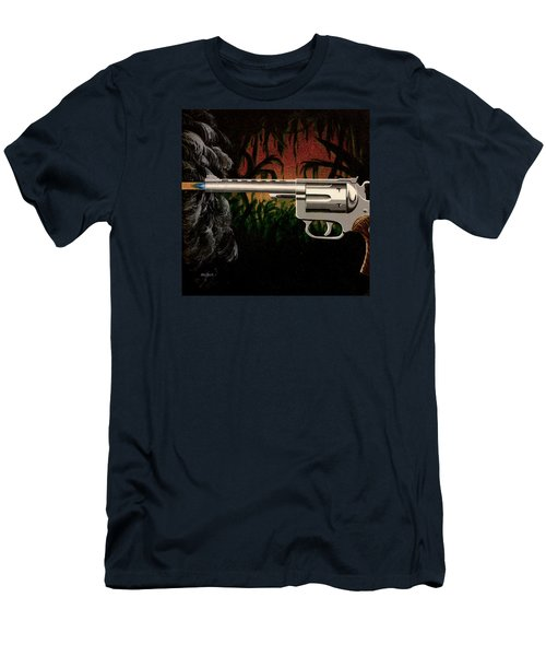 Fire In The Jungle Men's T-Shirt (Slim Fit) by Jack Malloch