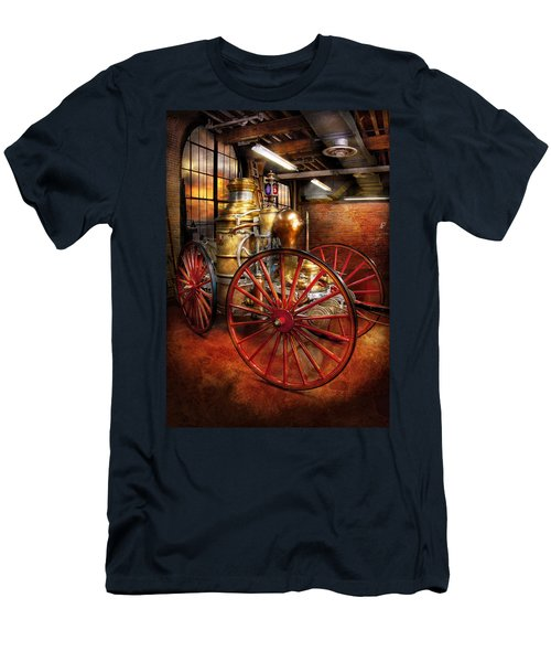 Fireman - One Day A Long Time Ago  Men's T-Shirt (Slim Fit) by Mike Savad