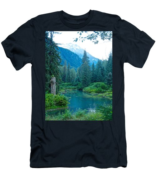 Fish Creek In Tongass National Forest By Hyder-ak  Men's T-Shirt (Slim Fit) by Ruth Hager