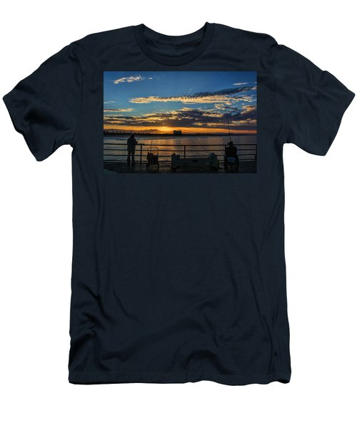 Fishermen Morning Men's T-Shirt (Slim Fit) by Tammy Espino
