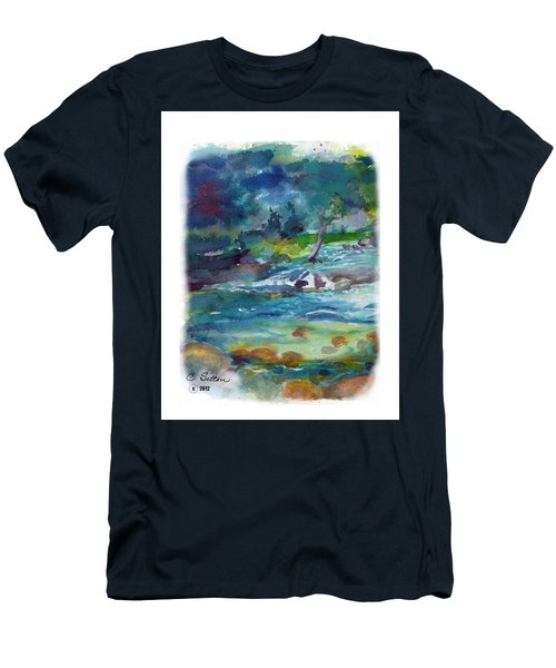 Fishin' Hole 2 Men's T-Shirt (Slim Fit) by C Sitton