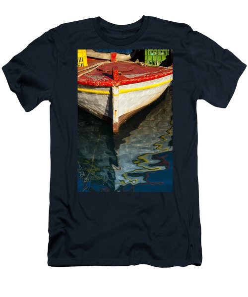 Fishing Boat In Greece Men's T-Shirt (Athletic Fit)