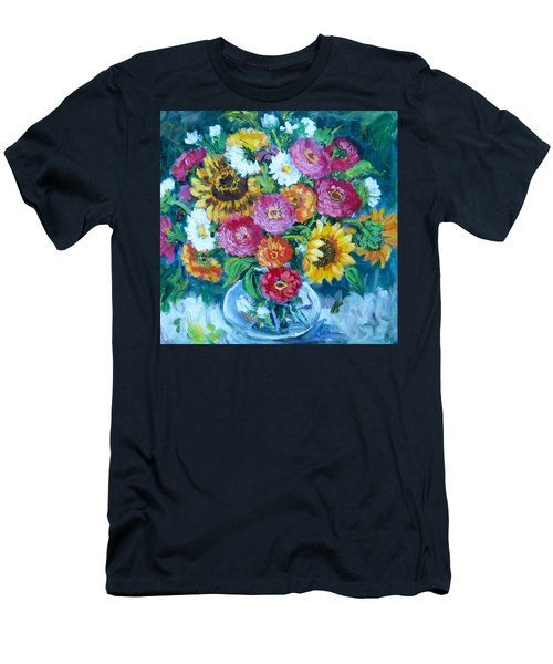 Floral Explosion No.1 Men's T-Shirt (Athletic Fit)