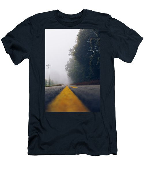 Fog On Highway Men's T-Shirt (Athletic Fit)