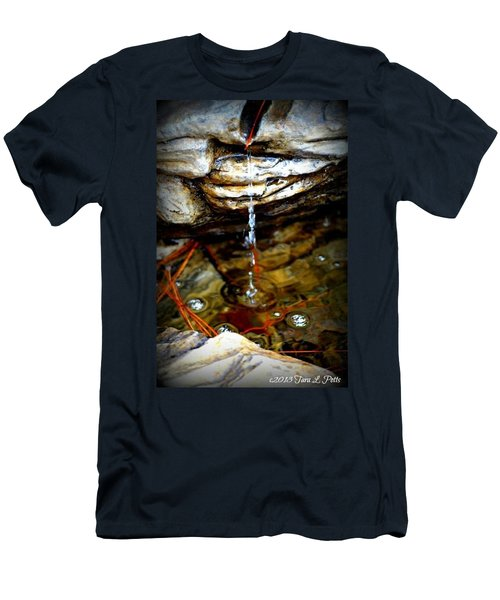 Men's T-Shirt (Slim Fit) featuring the photograph Fountain Drops by Tara Potts