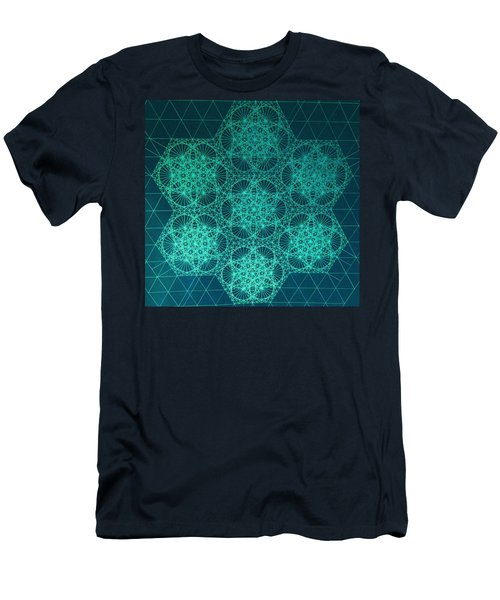 Men's T-Shirt (Slim Fit) featuring the drawing Fractal Interference by Jason Padgett