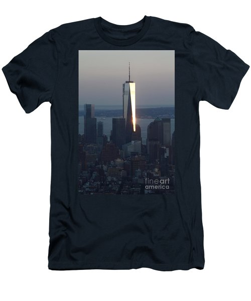 Freedom Tower Men's T-Shirt (Slim Fit) by John Telfer