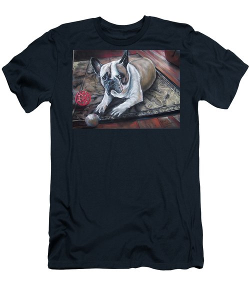 Men's T-Shirt (Slim Fit) featuring the pastel french Bull dog by Peter Suhocke