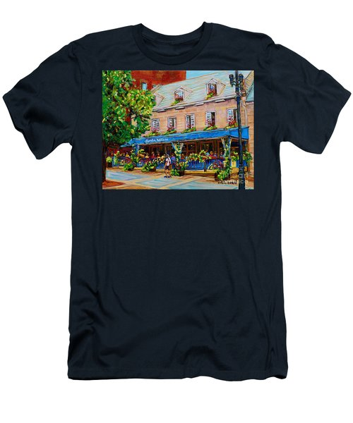 French Restaurant Jardin Nelson Paris Style Bistro Place Jacques Cartier Terrace Garden C Spandau   Men's T-Shirt (Athletic Fit)