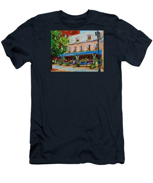 French Restaurant Jardin Nelson Paris Style Bistro Place Jacques Cartier Terrace Garden C Spandau   Men's T-Shirt (Athletic Fit)